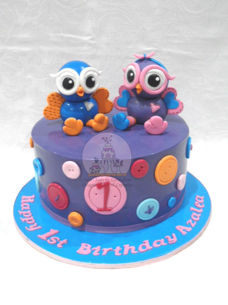 Hoot & Hootabelle 1st Birthday Cake