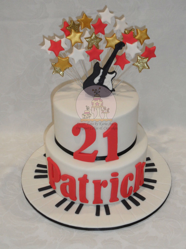 Music themed 21st Birthday Cake