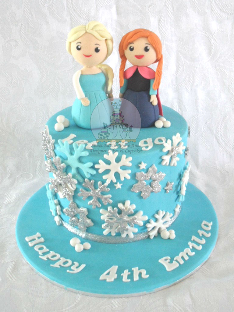 Frozen themed 4th Birthday Cake