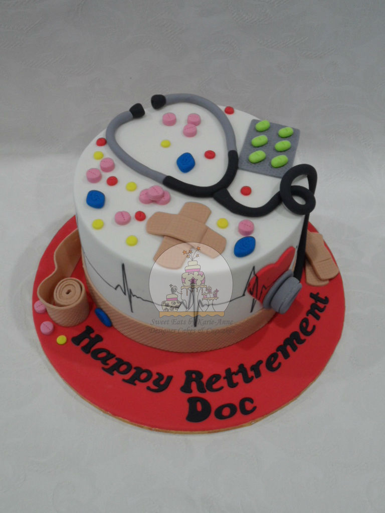 Medical Themed Retirement Cake