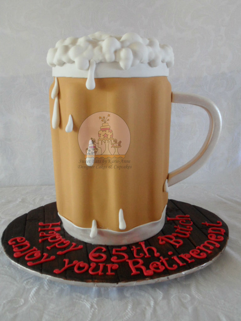 Beer Mug Retirement & Birthday Cake