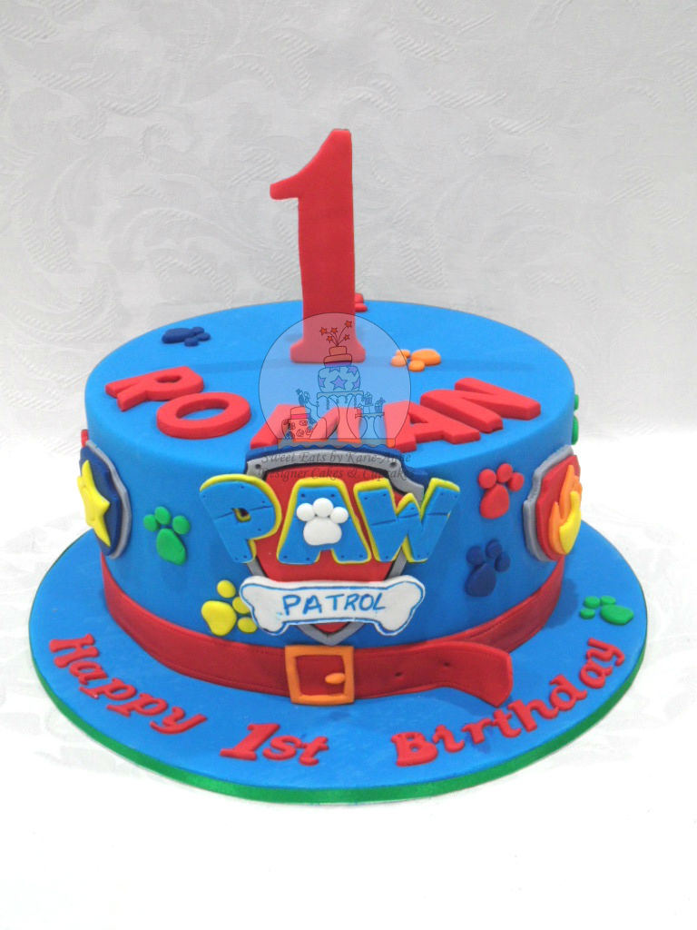 Single Tier Paw Patrol Cake