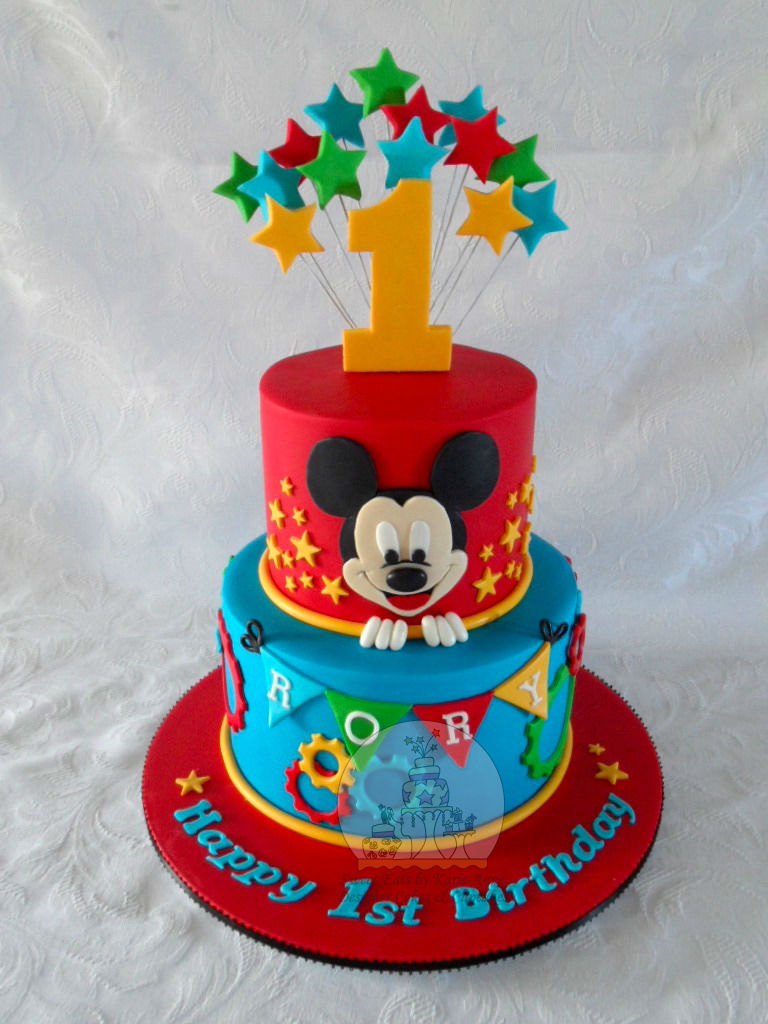 Mickey Mouse themed 1st Birthday Cake