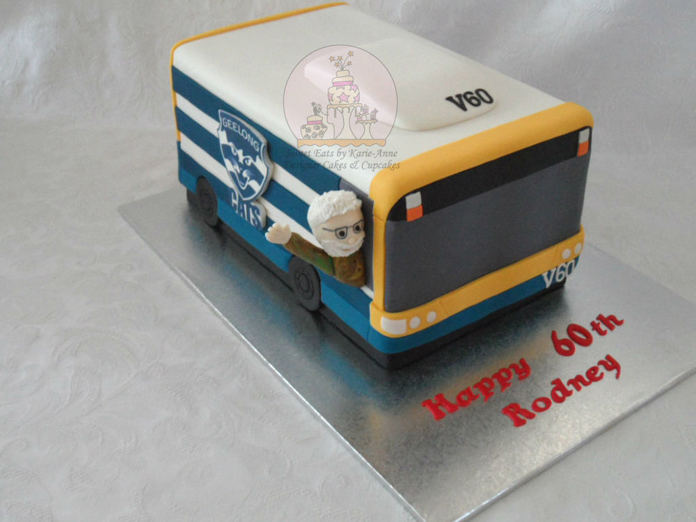 60th Brisbane City Bus themed Birthday Cake