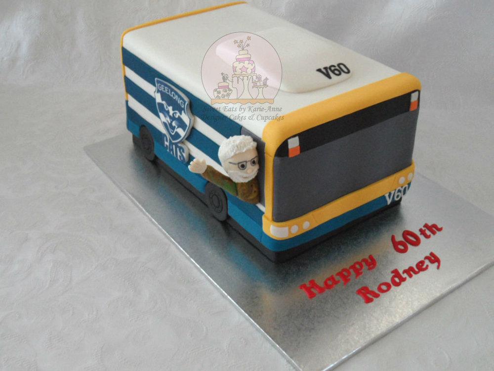 60th Brisbane City Bus themed Birthday Cake