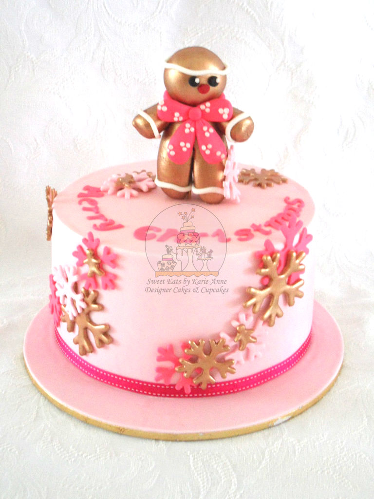 Hot Pink Gingerbread Man Cake
