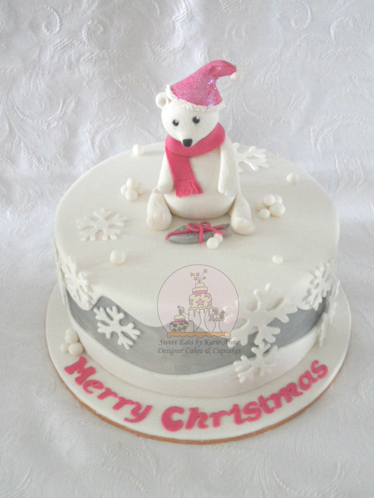 Christmas Polar Bear Cake