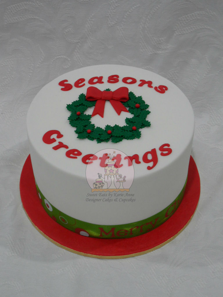 Season's Greeting Christmas Cake