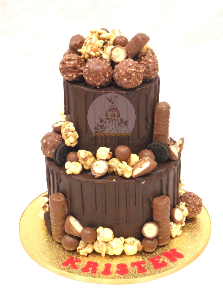 Chocolate Ferrero Rocher Drippy Cake