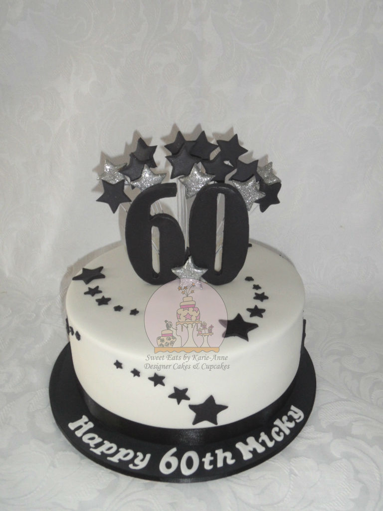 60th Shooting Star Birthday Cake