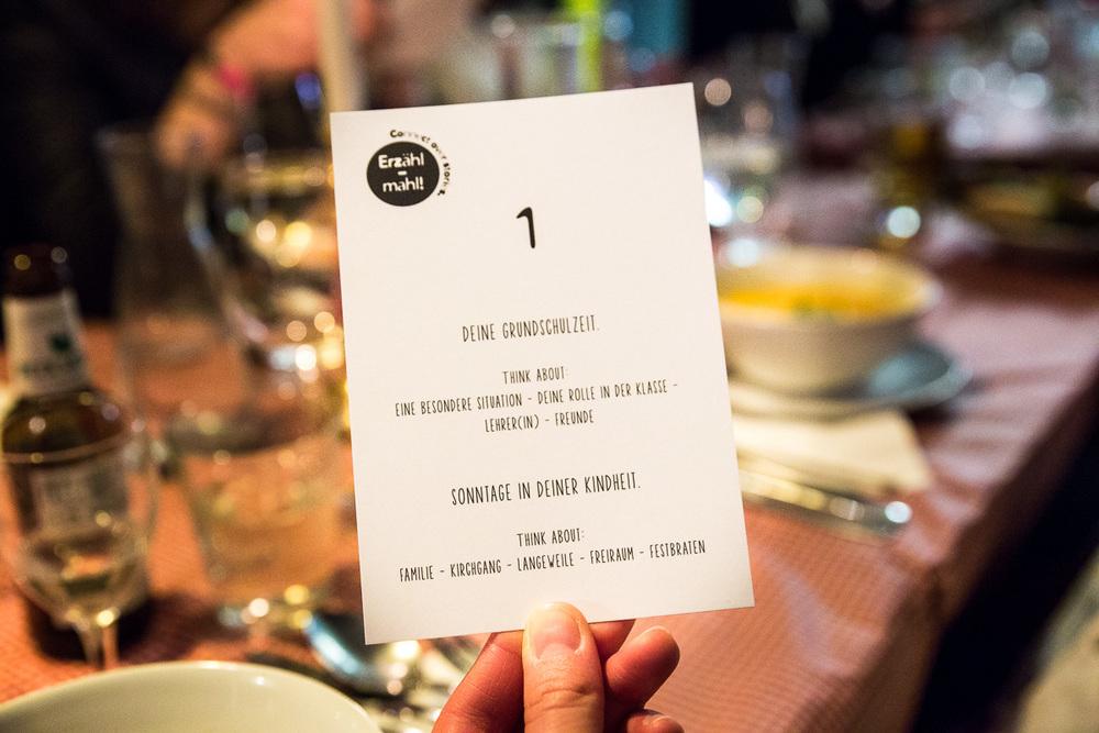 Erzähl-Mahl, gemeinsames Essen udn Kennenlernen. ©Susanne Baade, SUSIES LOCAL FOOD