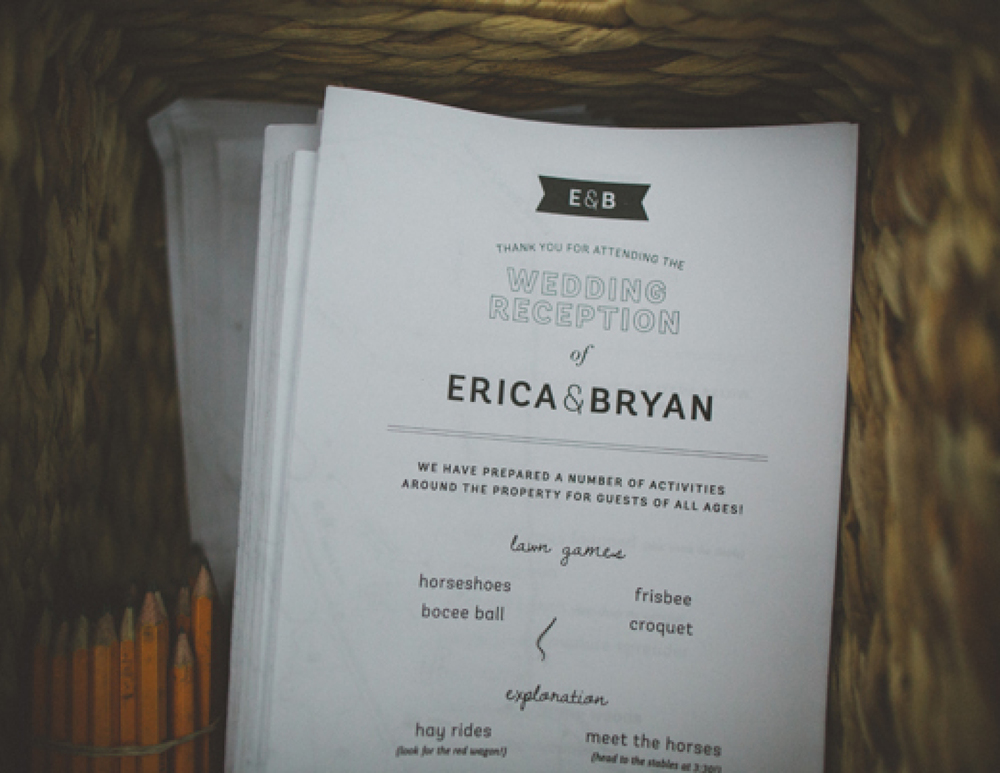 Saturday Program - Erica & Bryan 10.11+12.13