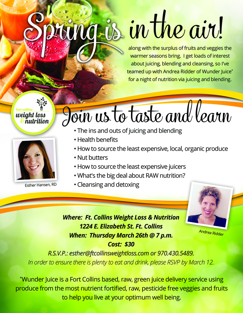 Ft Collins Weight Loss & Nutrition Class
