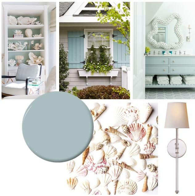 Bee's Knees Interior Design Luluworth Blue Mood Board