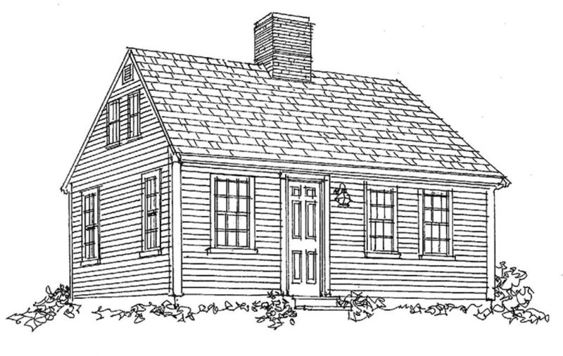 Three-quarter Cape, source Old House Journal