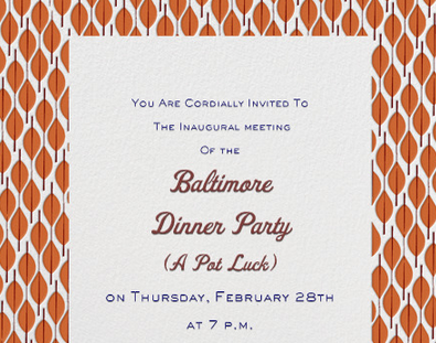 The Dinner Party meet Baltimore.  Baltimore, meet The Dinner Party. RSVP here