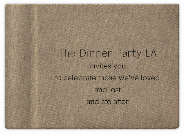 LA Dinner - Sunday,  2/10.    Email carla@thedinnerparty.org for more details and to reserve your seat.