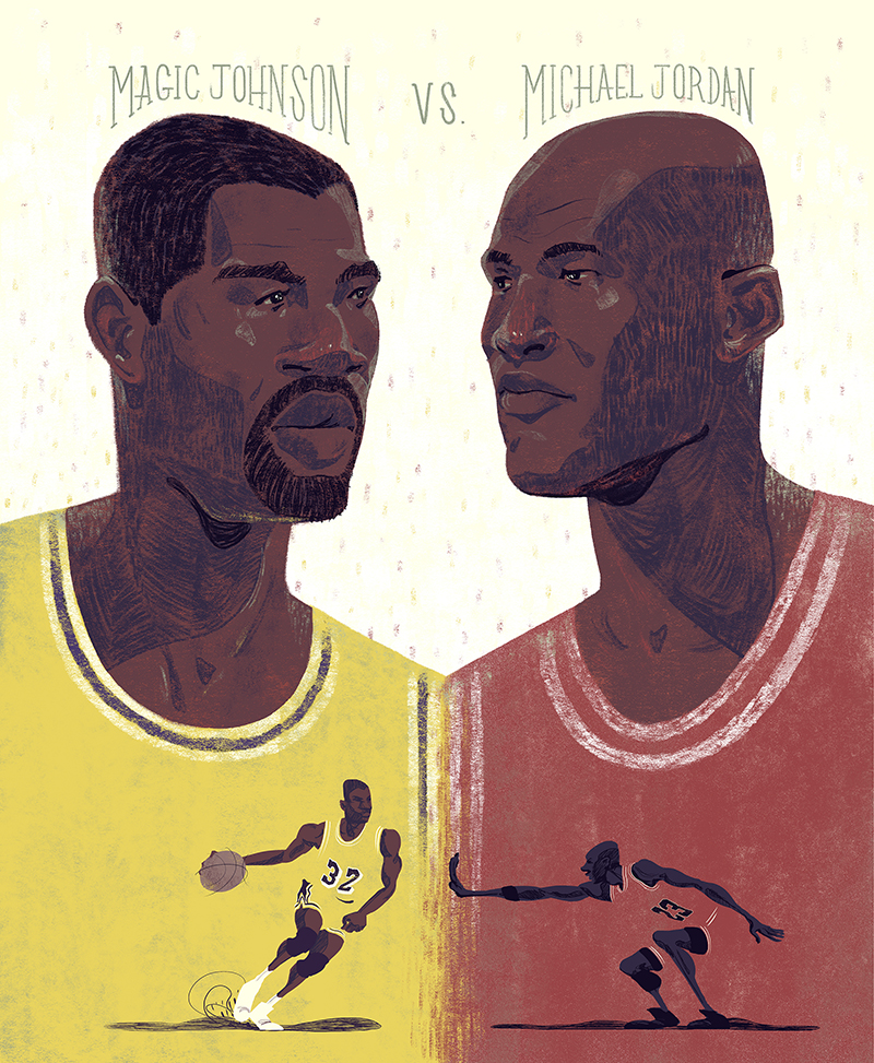 Jordan vs. Magic Johnson
