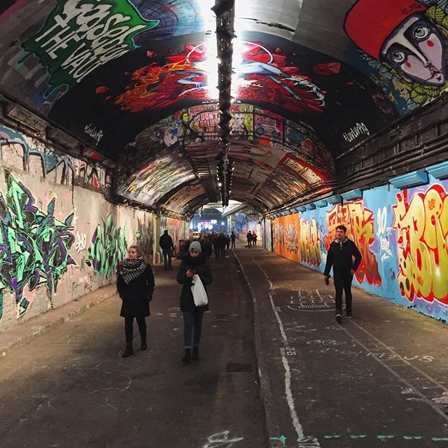 Lights and color.  #lights #color #graffiti #underground #london #travel #streetphotography #urban