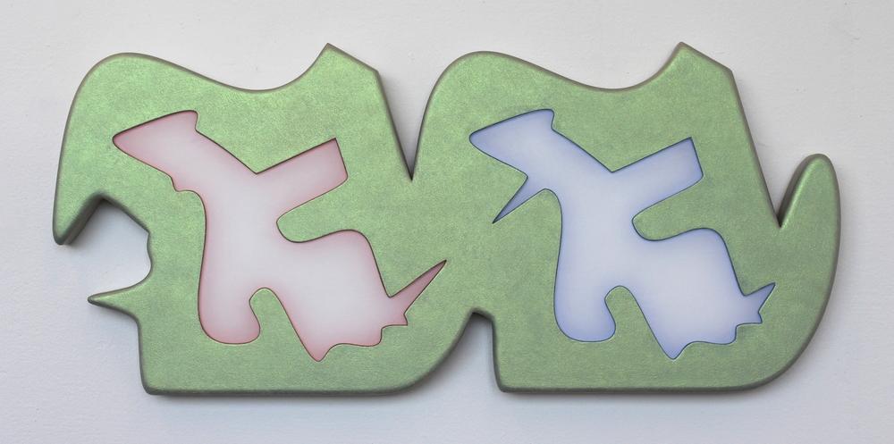 Acrylic, MDF and Plexiglass 30 1/4 X 13 1/2 X 1 1/4 Inches