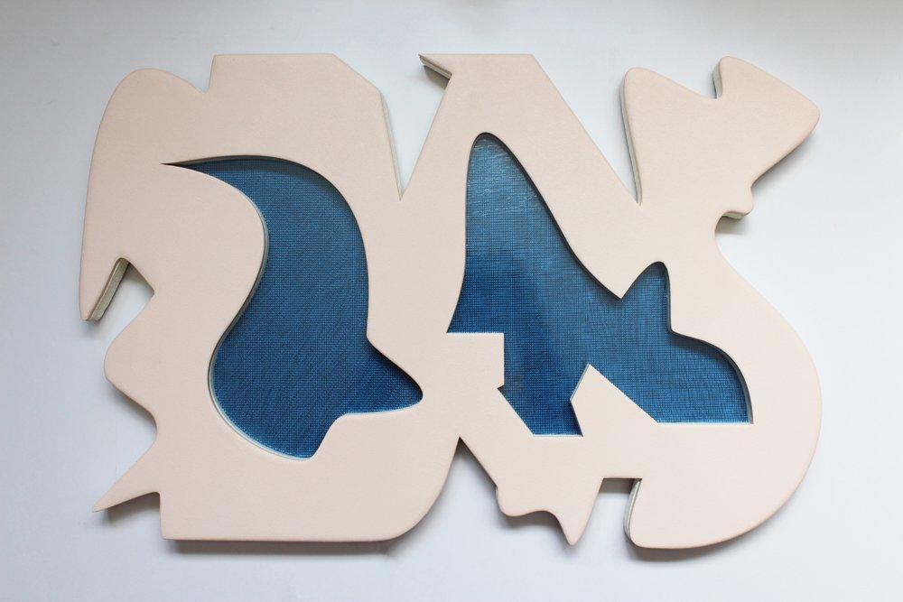Acrylic, Oil, Masonite, Plexiglass and Plastic Mesh 15 X 23 1/2 Inches