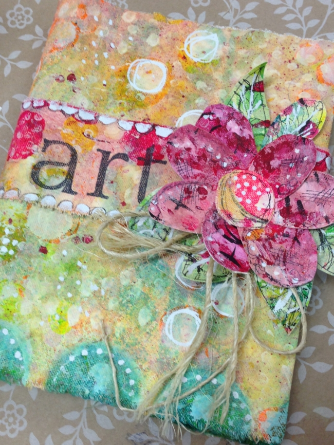 Canvas Art Journal Cover
