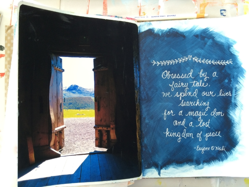 Lorraine Bell Art Journal Page
