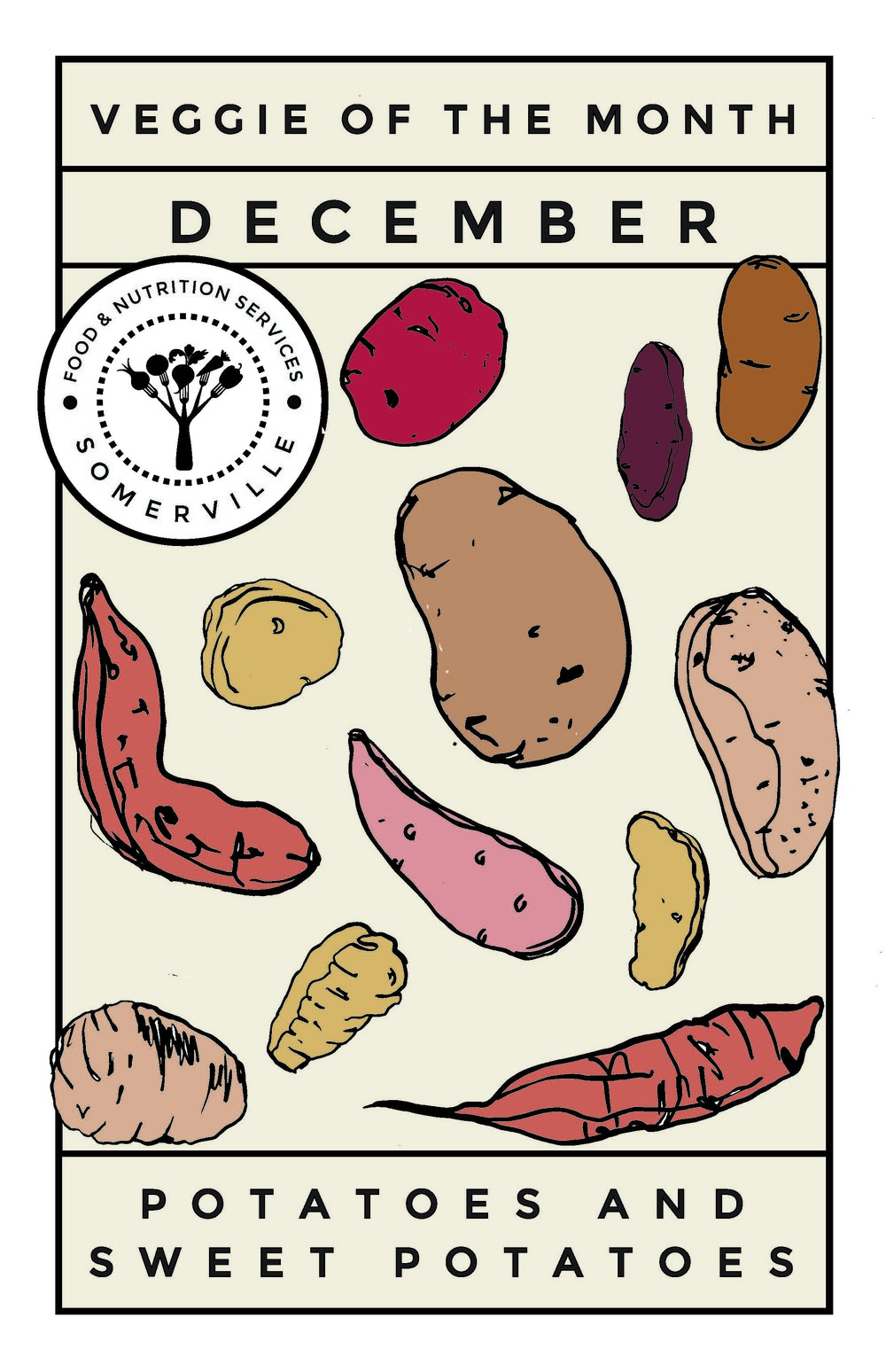Original Designs for Somerville Farm to School Program by Print Club Ltd. www.jointheprintclub.com