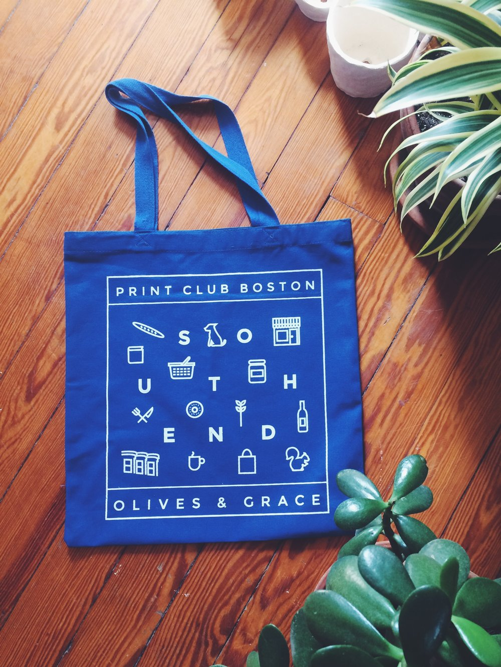 Tote Design and Screenprint with Olives and Grace, Boston, MA