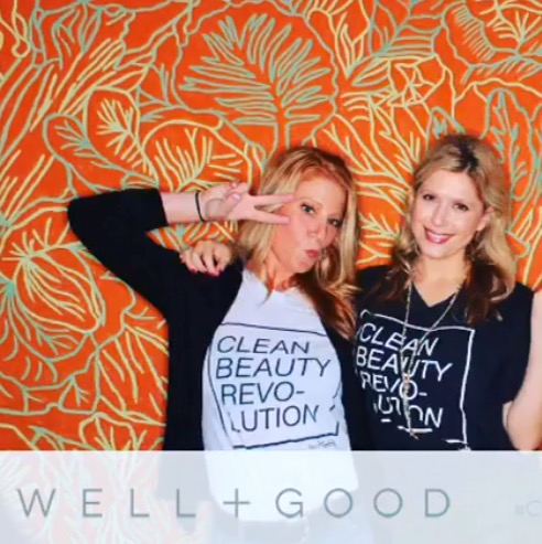 "Hand Painted Original Photobooth Backdrop for the Well and Good ""Wellness Trends"" event"
