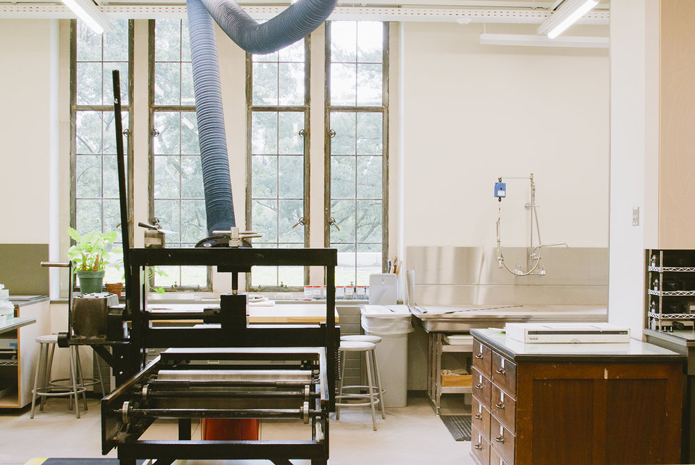 Wellesley College printshop tour from the Print Club Ltd. Journal