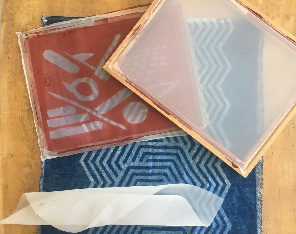 Indigo Print Workshop : Screen Printing With Resist