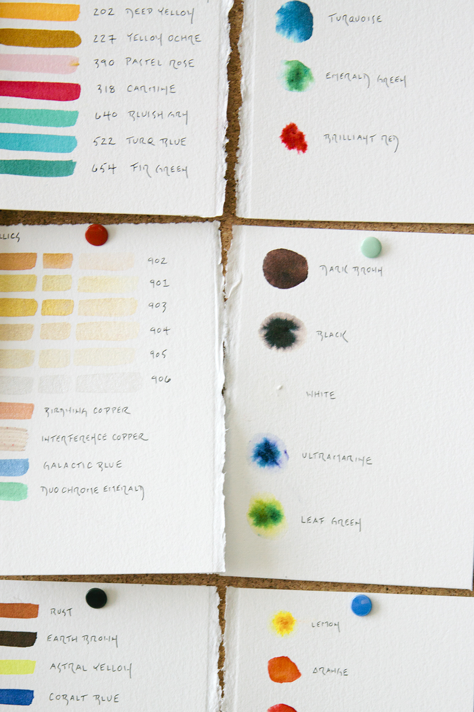 Color tests in Kari Sullivan's studio.
