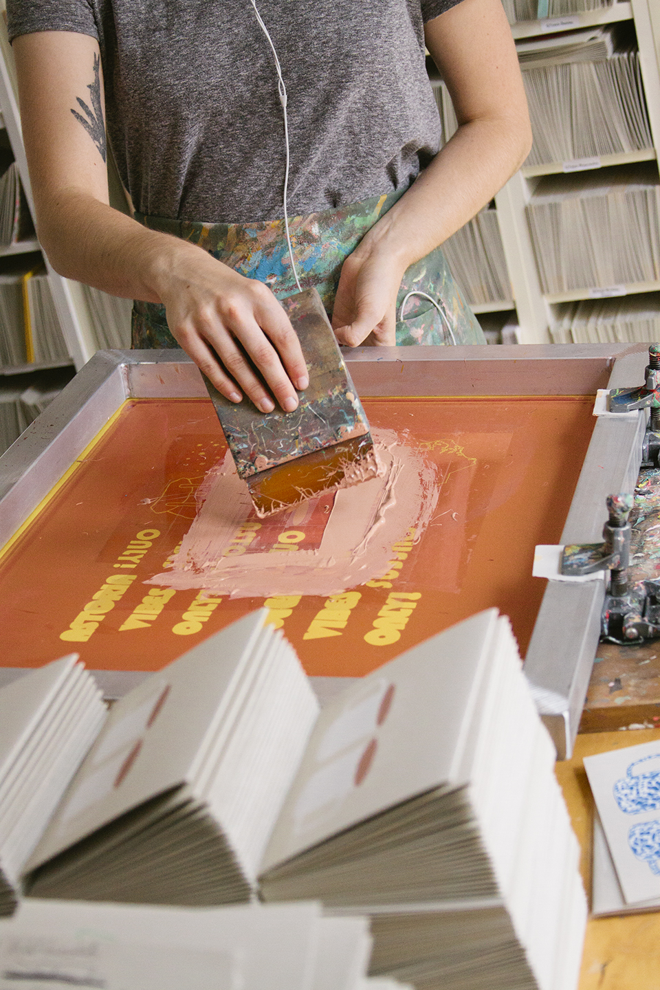 Print Club Ltd. visits the LA studio of Gold Teeth Brooklyn cards