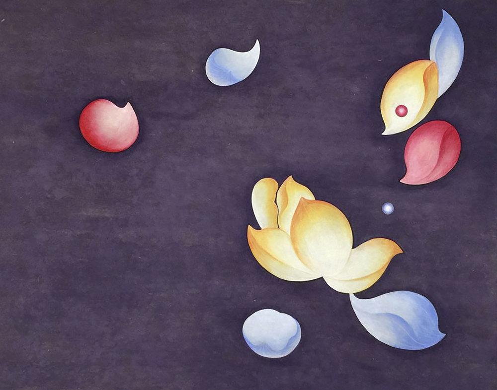 Desire III ( 욕망 III )   Acrylic on Hanji Paper over wood panel 16x20X1 Inches40.5x51x2.5cm, 2015  Sold
