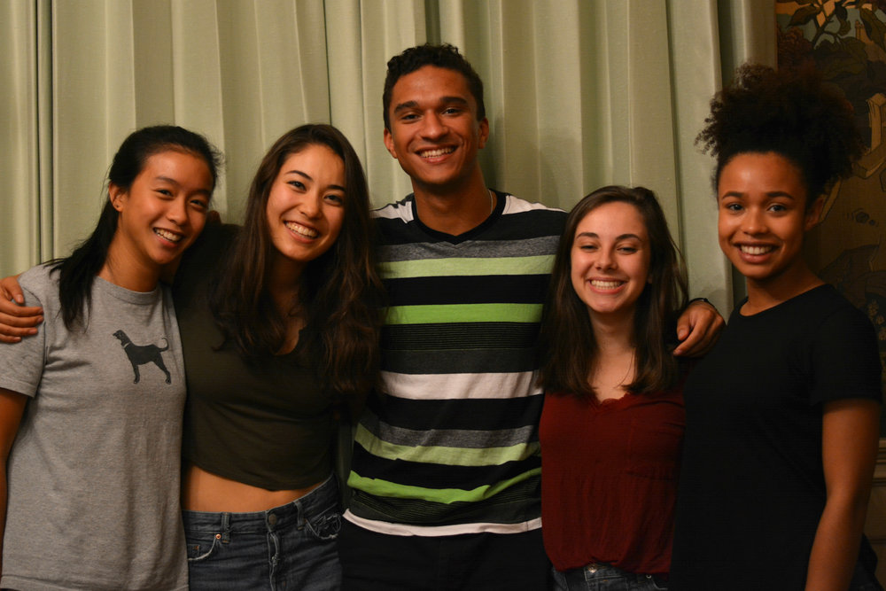 From left: Chloe Li '20, Lily Jacobs '20, Damian Richardson '20, Rachel Kahn '20 & Maribelle Dickins '20