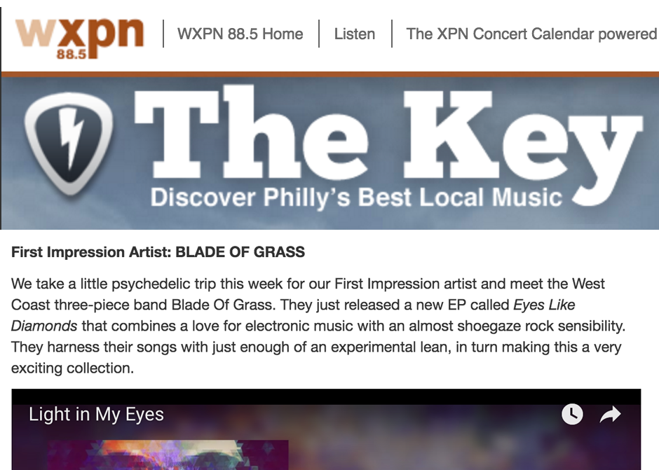 Click to Read on WXPN 88.5 Philadelphia