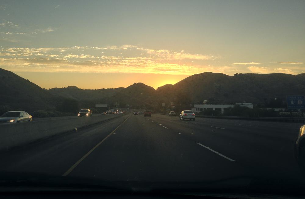 Iphone sunrise on the way to LA