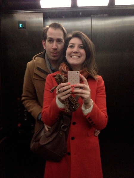 oh look. it's me making Kevin (HBF) take a photo with me using a mirror in the fancy clothing store elevator. typical.