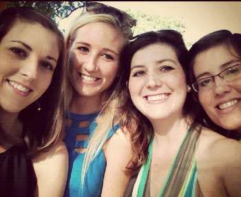 These are four girls. My sisters. They are so wonderful.