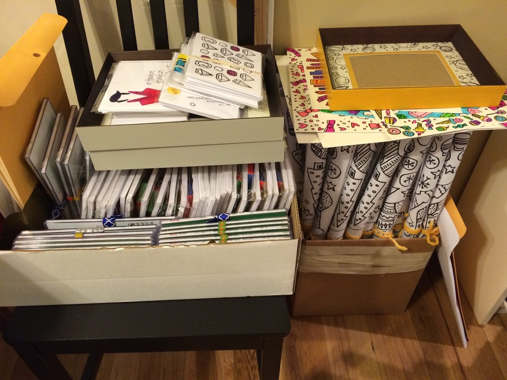 This is what our house looks like right now. SO. MUCH. PAPER.