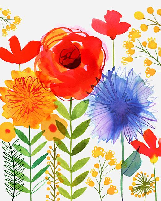 """Margaret Berg's """"Red Rose Garden"""""""