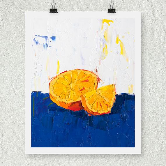 Orange print by oil painter E. Buchmann