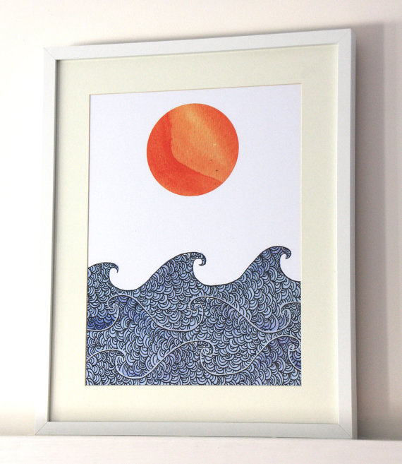 """Sunrise Print"" by Wisteria Paper"