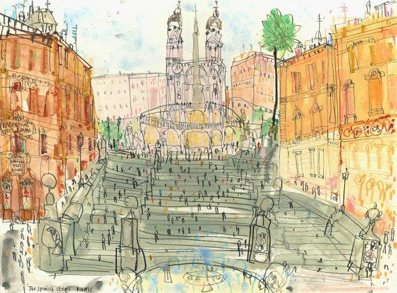 Spanish Steps, Clare Caulfield