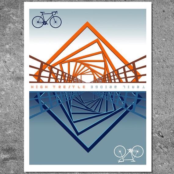Bozz Illustration (go John!),  High Trestle Trail Bridge