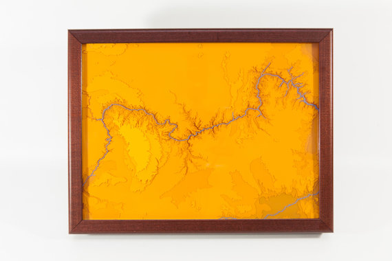"The Lithos Project ""Grand Canyon Topographic Map"""