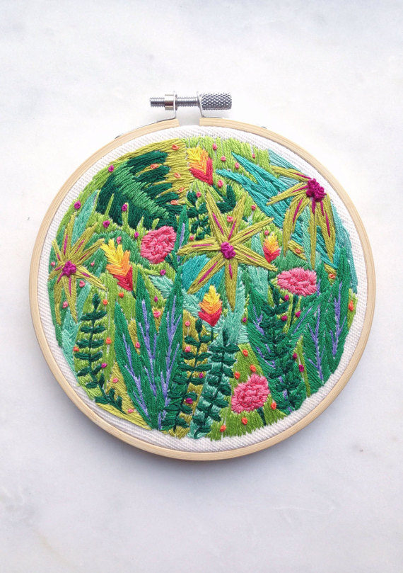 Jungle Embroidery, Sam Eldridge