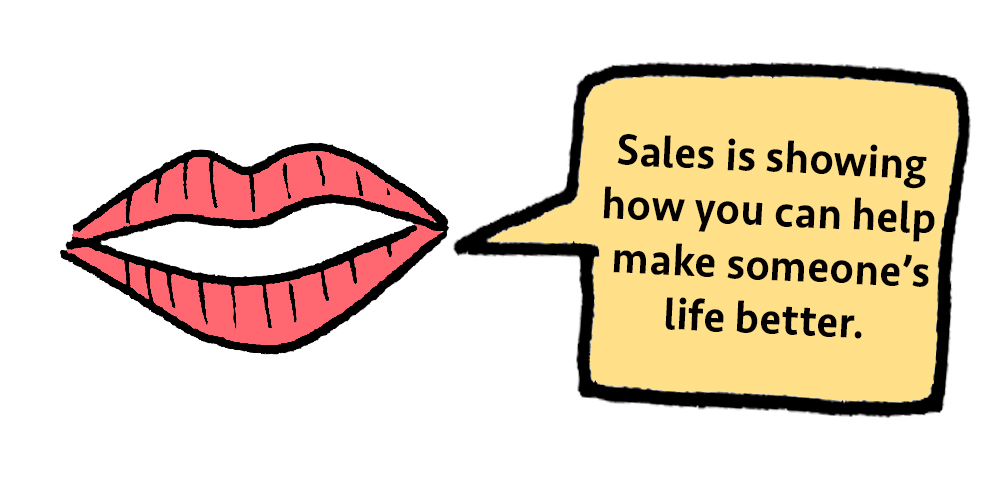 Liz Lidgett's definition of sales.