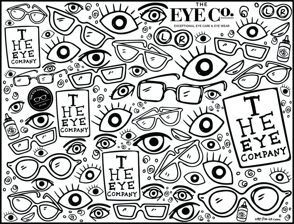 The Eye Company Waiting Room Coloring Page